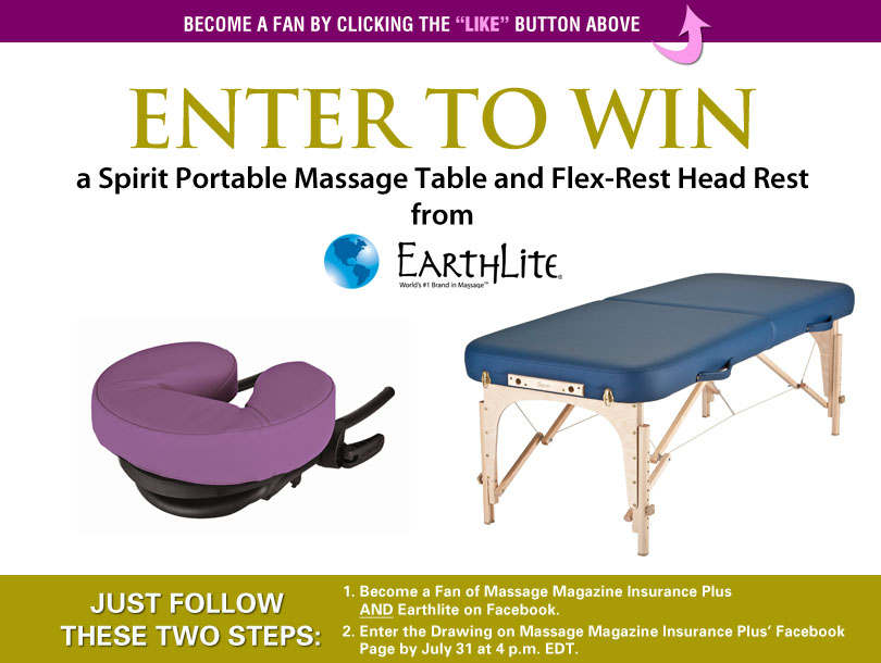 Massage Therapists: Win an Earthlite Massage Table Package, MASSAGE Magazine