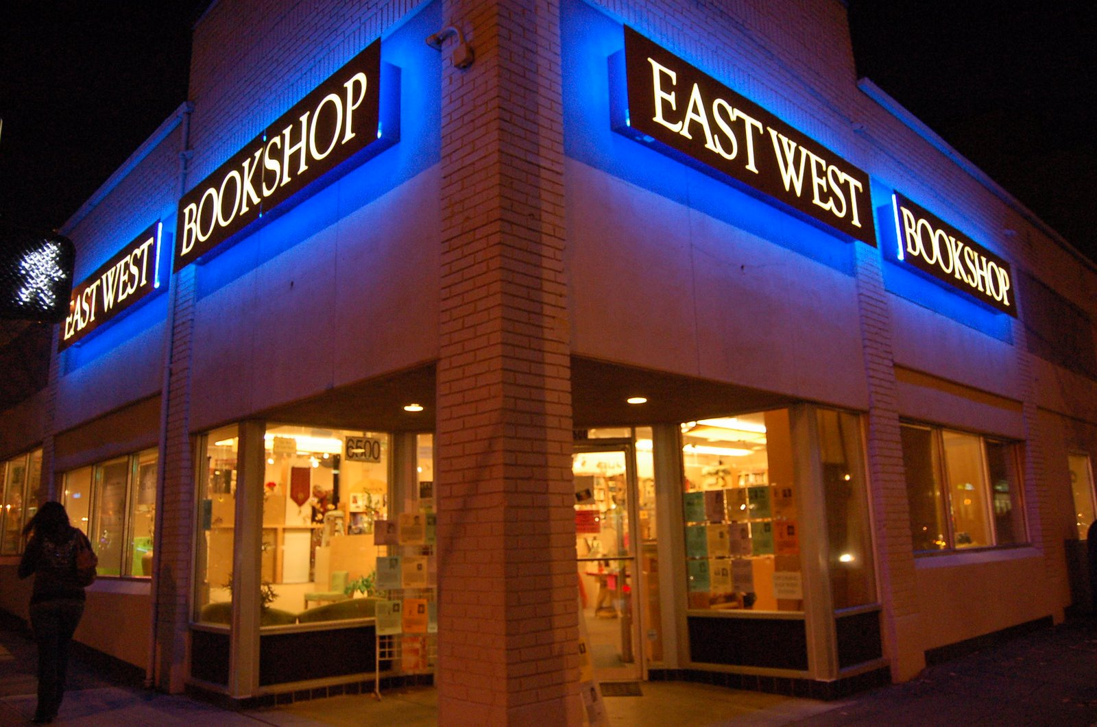 East West Bookshop Seattle exterior for Facebook