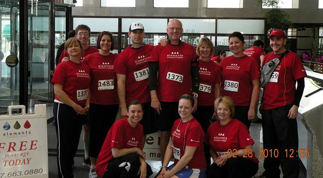 Elements Therapeutic Massage Employees Help Raise More Than $1,600 in the Anthem Fight for Air Climb, MASSAGE Magazine