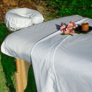Simplicity™ poly-cotton massage table sheet set