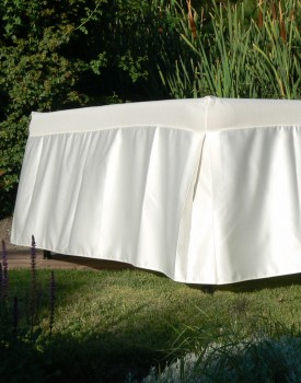 Satin Serenity Table Skirt