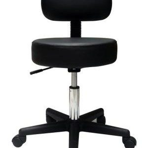 Pneumatic Adjustable Stool With Back Rest