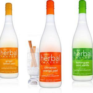 Sparkling Ayala's Herbal Water - Ginger Lemon Peel (25oz/glass)