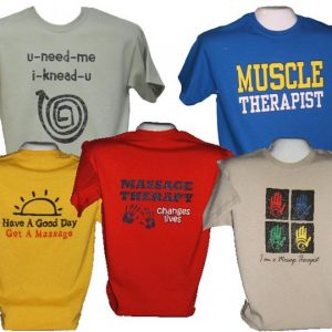 Back Wordzz T-Shirts Simple Marketing Apparel for Massage Therapy