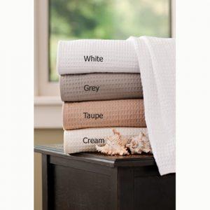 Classic Waffle Weave Bath Sheets & Throw Blankets
