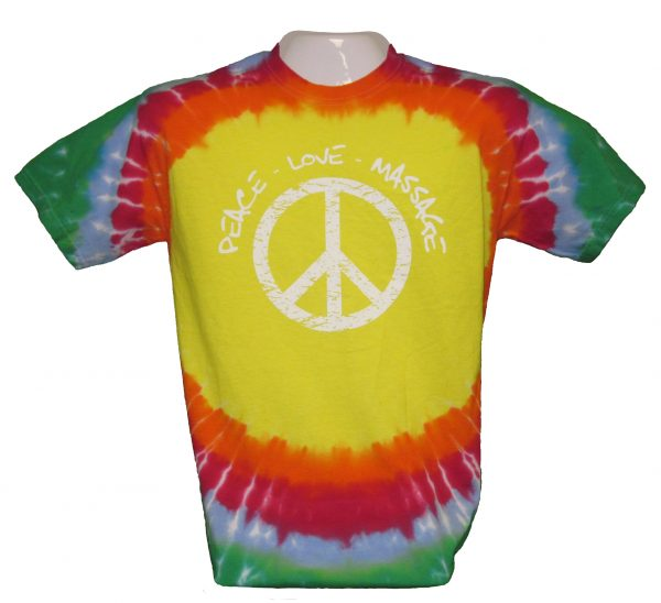 """Peace, Love & Massage"" Massage Therapy T-Shirt"