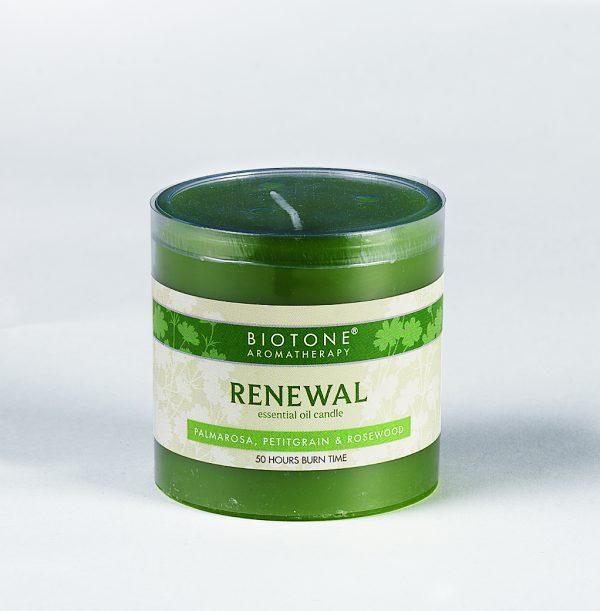 Essential Oil Pillar Candle - Renewal