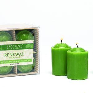 Essential Oil Votive Candles - Renewal