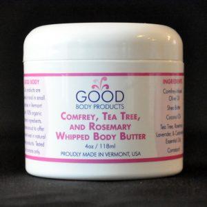 Comfrey, Tea Tree & Rosemary Whipped Body Butter