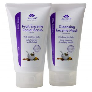 Fruit Enzyme Facial Scrub and Cleansing Enzyme Mask