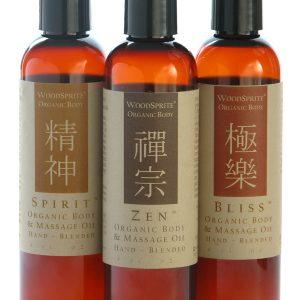 Sacred Collection Organic Massage Oils