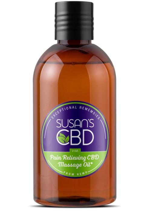 Hemp CBD Natural Massage Oil - 300 mg of Pure CBD