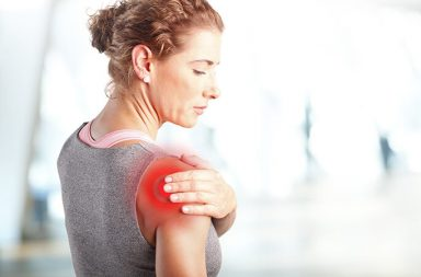 A massage client who needs a topical analgesic to help her shoulder pain