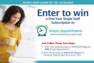 Simply Appointments April Giveaway