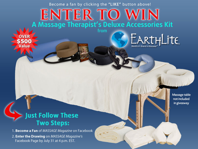 MASSAGE Magazine Partners with EarthLite in July Facebook Giveaway, MASSAGE Magazine