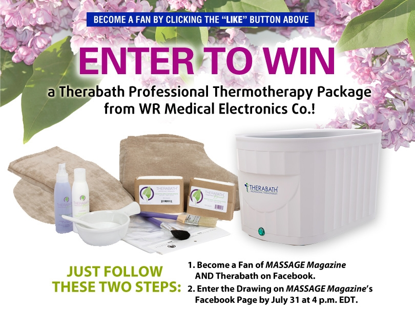 Massage Therapists: Win a Thermotherapy Package in MASSAGE Magazine's July Giveaway, MASSAGE Magazine