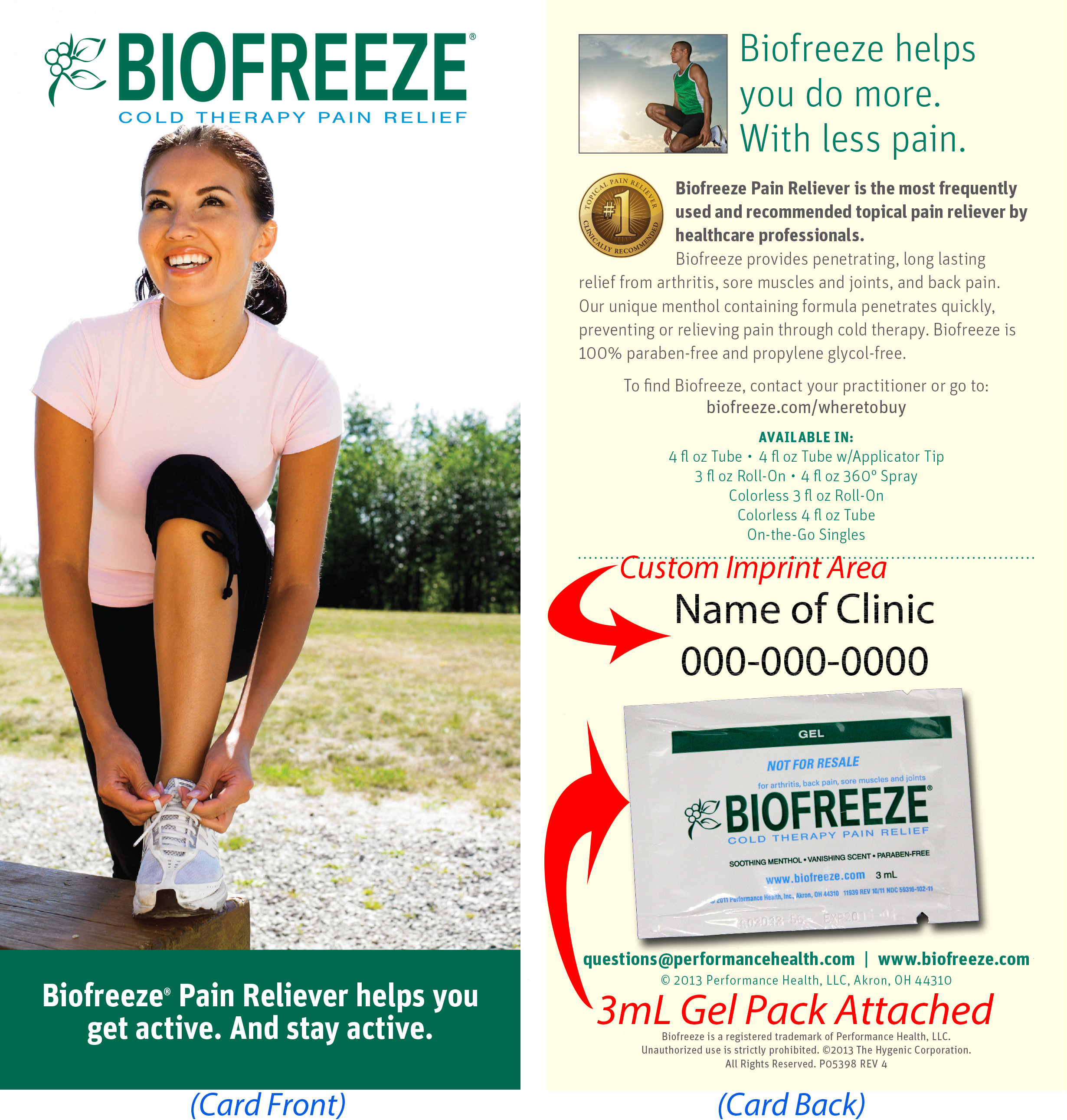 Free Consumer Biofreeze Sample Program Announced by Performance Health, MASSAGE Magazine