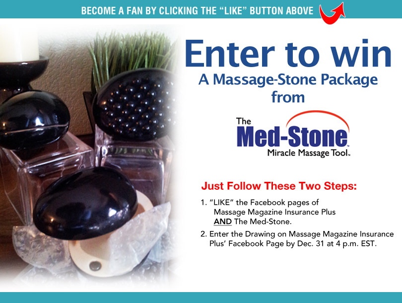 Massage Therapists: Win a Massage-Stone Package from Med-Stone Enterprises LLC, MASSAGE Magazine