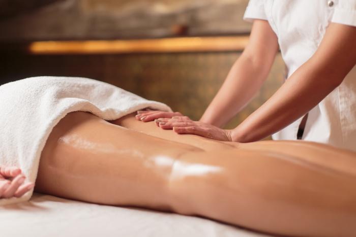 oil leg massage