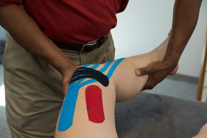 taping a leg