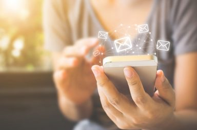 communicate with email on your cell phone