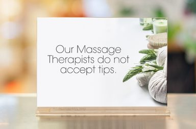 how much to tip for massage sign