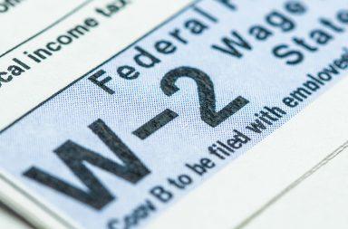 W-2 tax form - employee benefits