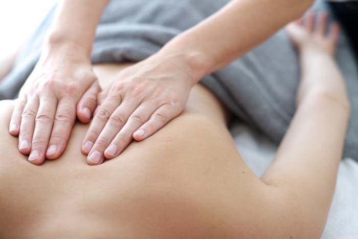 massage with myofascial technique