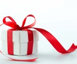 Box With Red Ribbon For Holiday Marketing
