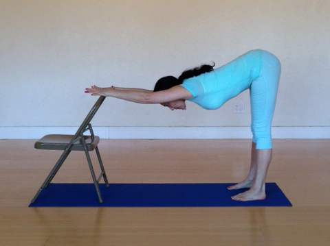Chair yoga for massage therapists for Furniture yoga