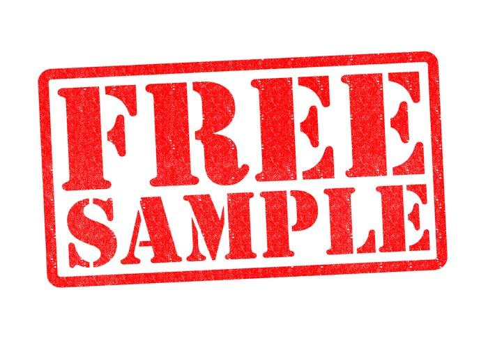 free sample stamp