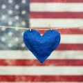 heart and flag