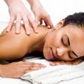 client having massage