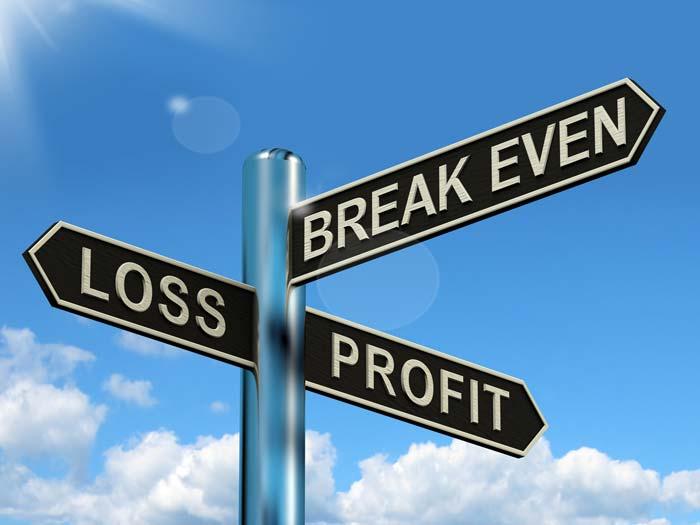 loss profit break even