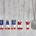 thank you with dog tag