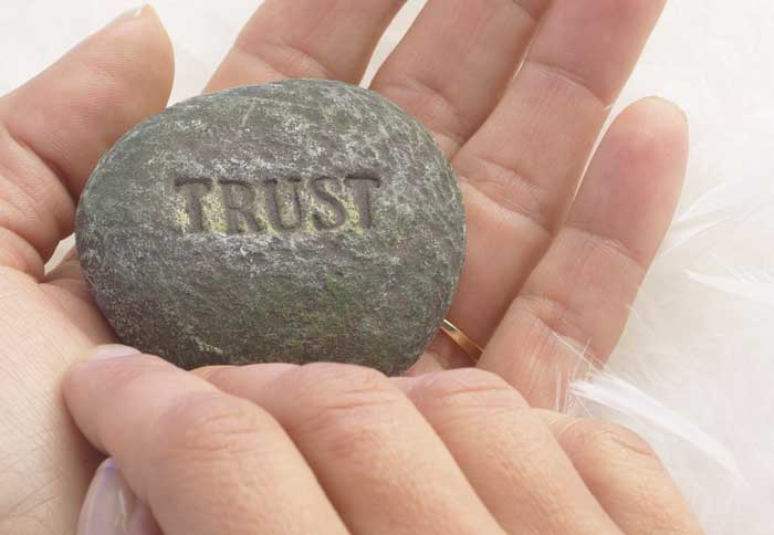 trust rock hands massage marketing