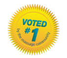 Voted Number 1 by the Massage Community