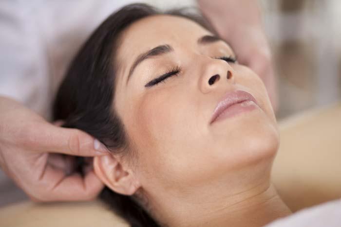 woman massage client